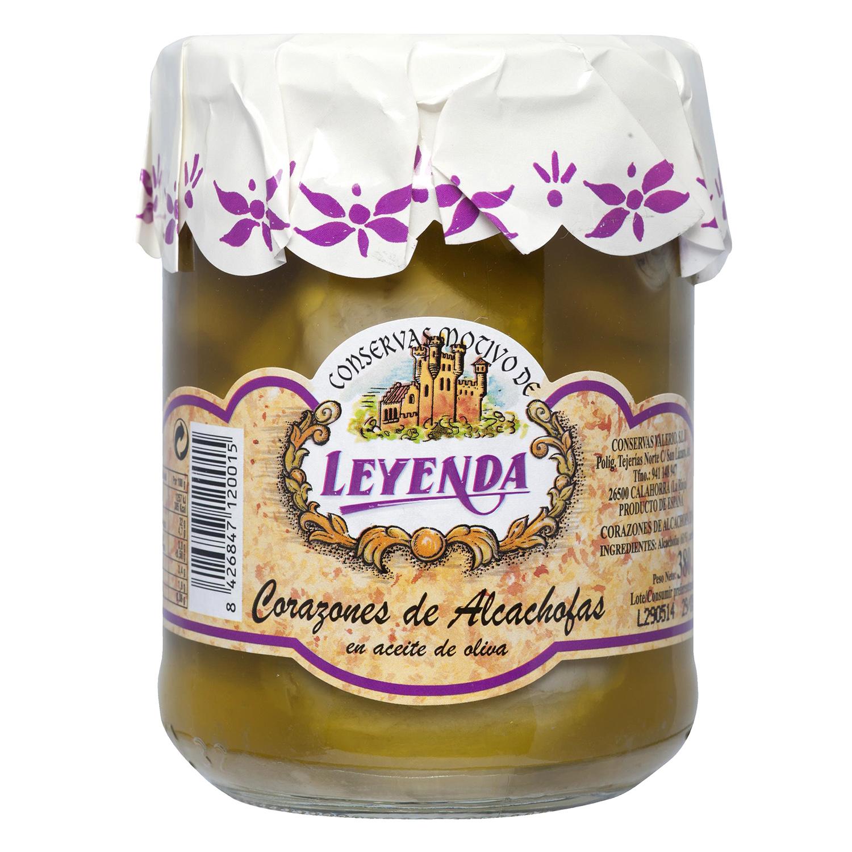 Corazones de alcachofas en aceite de oliva