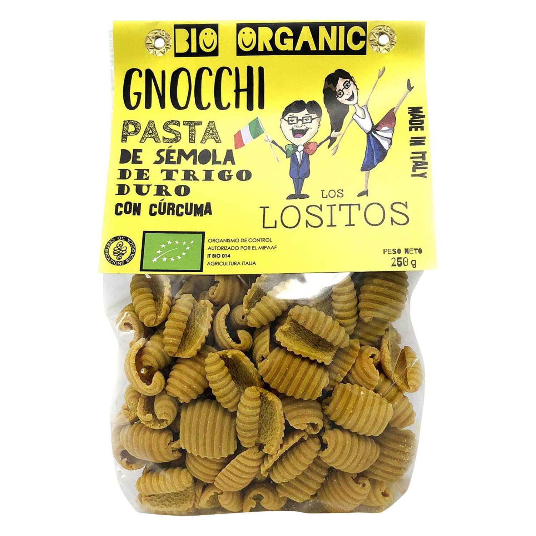 Gnocchi ecológico Los Lositos con cúrcuma 250 g.