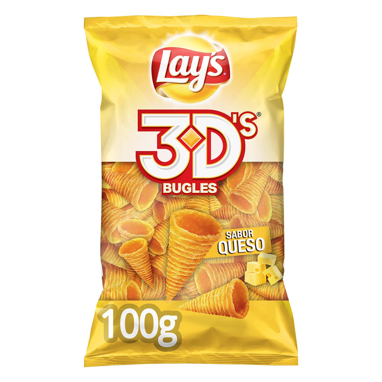 Conos de maíz sabor queso Lay's 3D's 100 g.