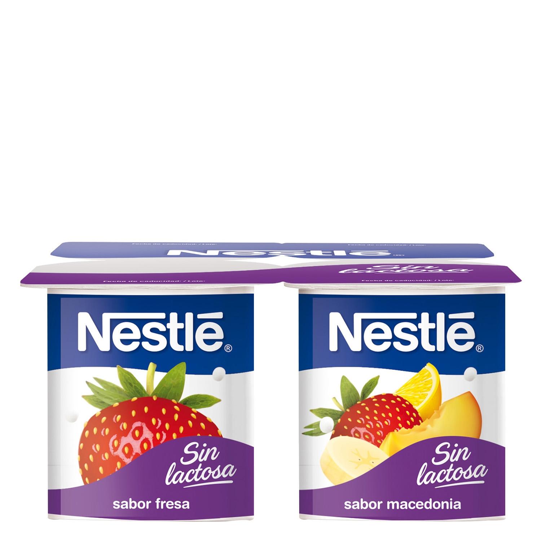 Yogur fresa- macedonia sin lactosa