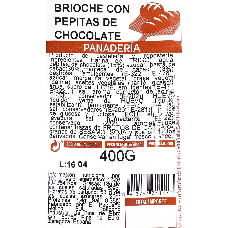 Brioche con pepitas de chocolate 400 g - 3