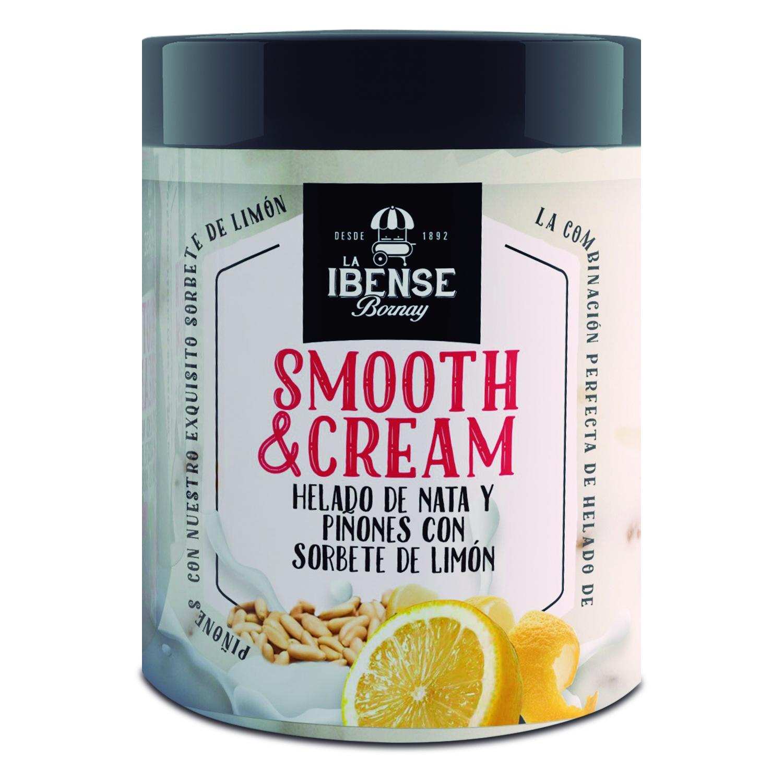 Helado de nata y piñones con sorbete de limón Smooth&Cream