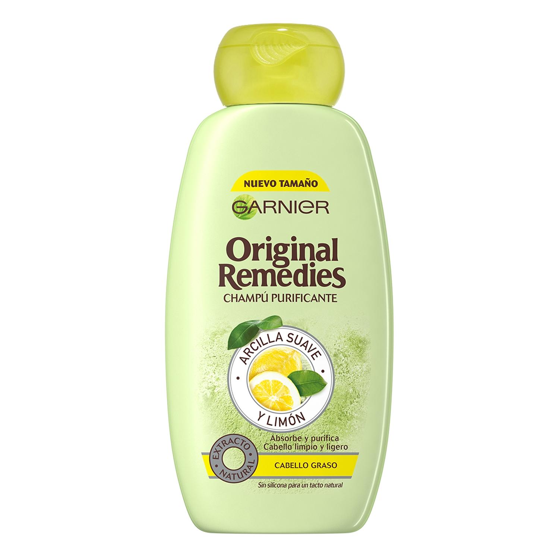 Champú purificante con arcilla suave y limón Original Remedies 300 ml.