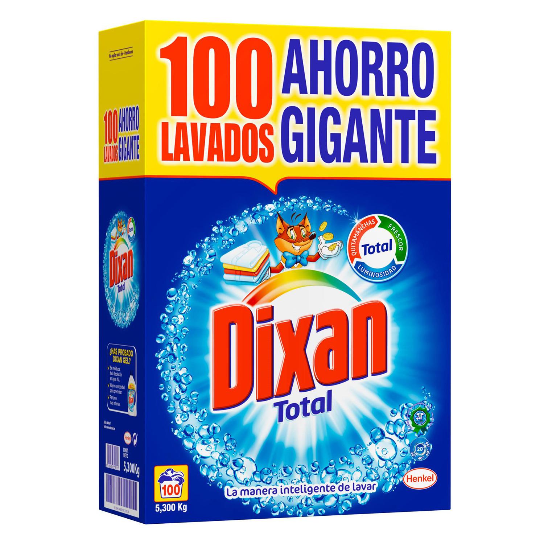 Detergente en polvo Total Dixan 100 lav.