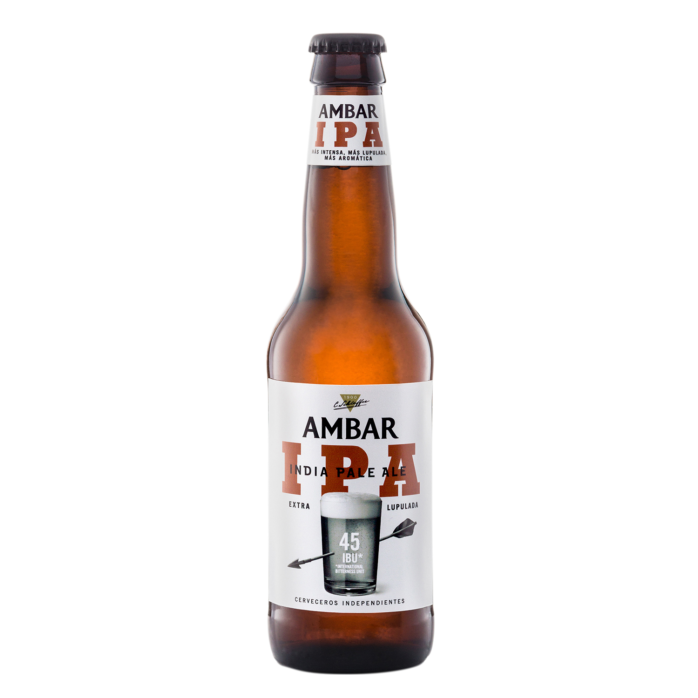 Cerveza Ambar Indian Pale Ale botella 33 cl.