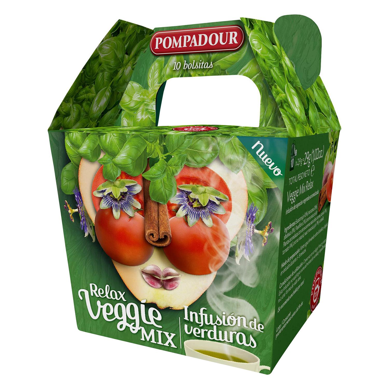 Infusión de verduras en bolsitas Relax Veggie Mix Pompadour 10 ud.