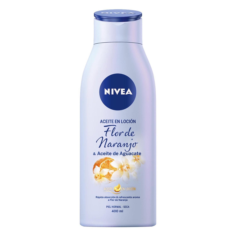 Aceite en loción Flor de naranjo & aceite de aguacate Nivea 400 ml.