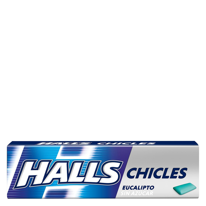 Chicles sabor eucalipto Halls 10 ud.