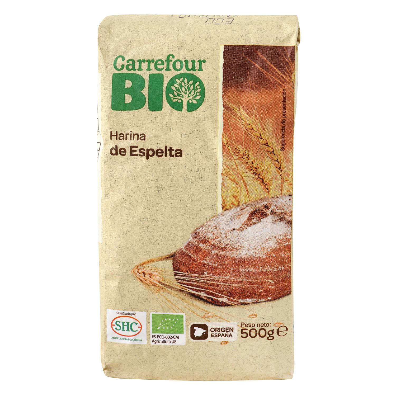Harina de espelta ecológica Carrefour 500 g.