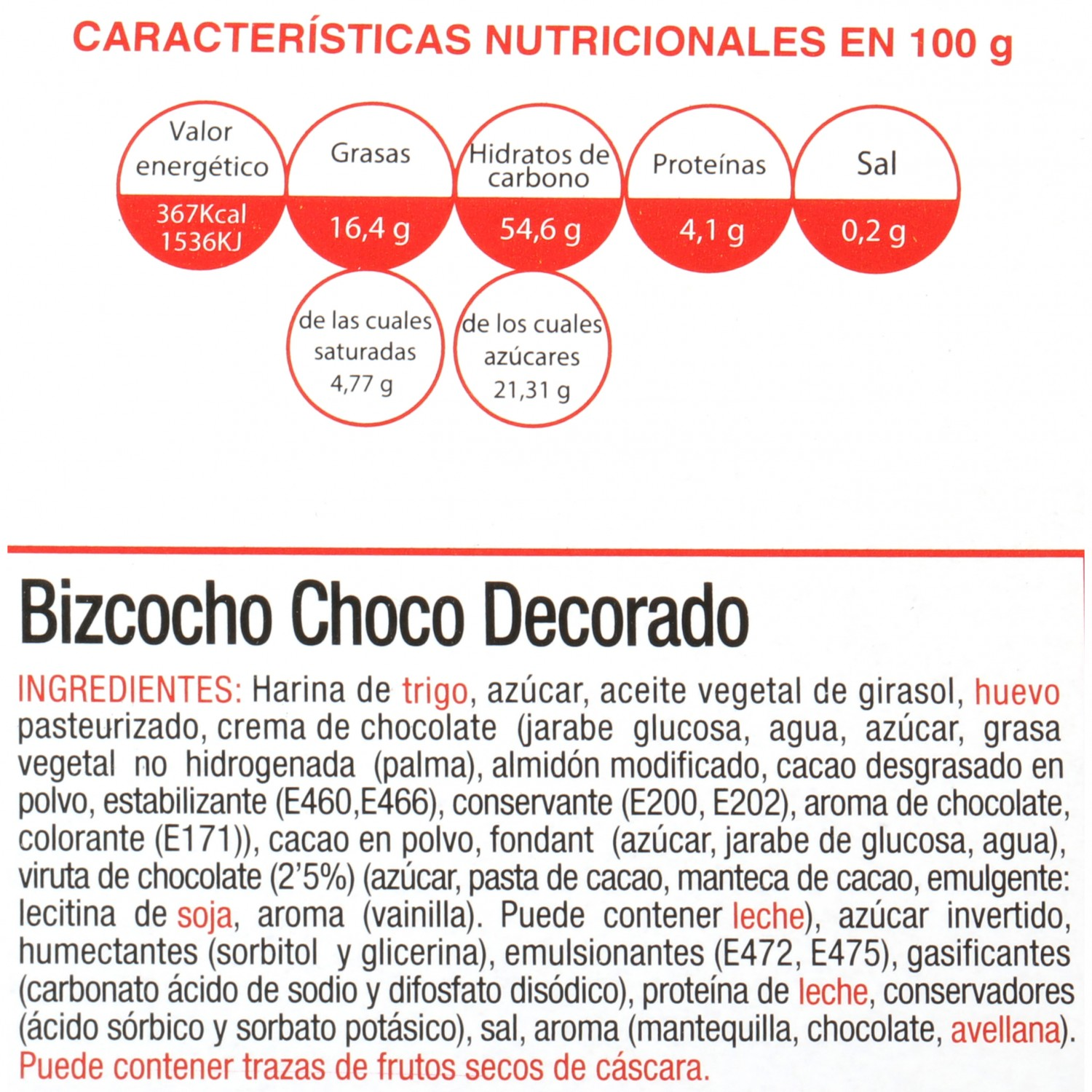 Bizcocho chocolate decorado Dillepasa 400 g - 3