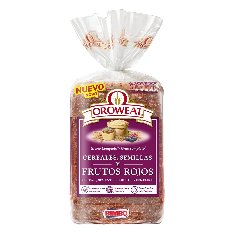 Pan de molde con cereales, semillas y frutos rojos Oroweat