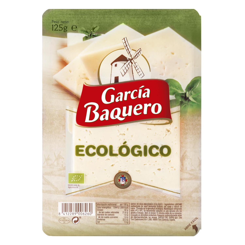 Queso curado lonchas ecológico García Baquero 125 g