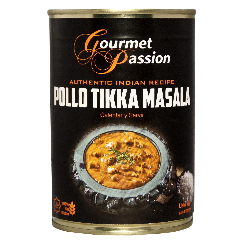 Pollo Tikka Masala Gourmet Passion sin gluten 400 g.