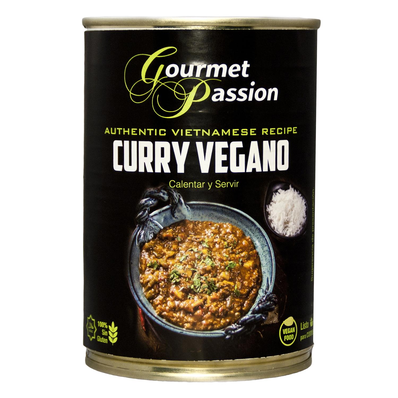 Curry vegano sin gluten