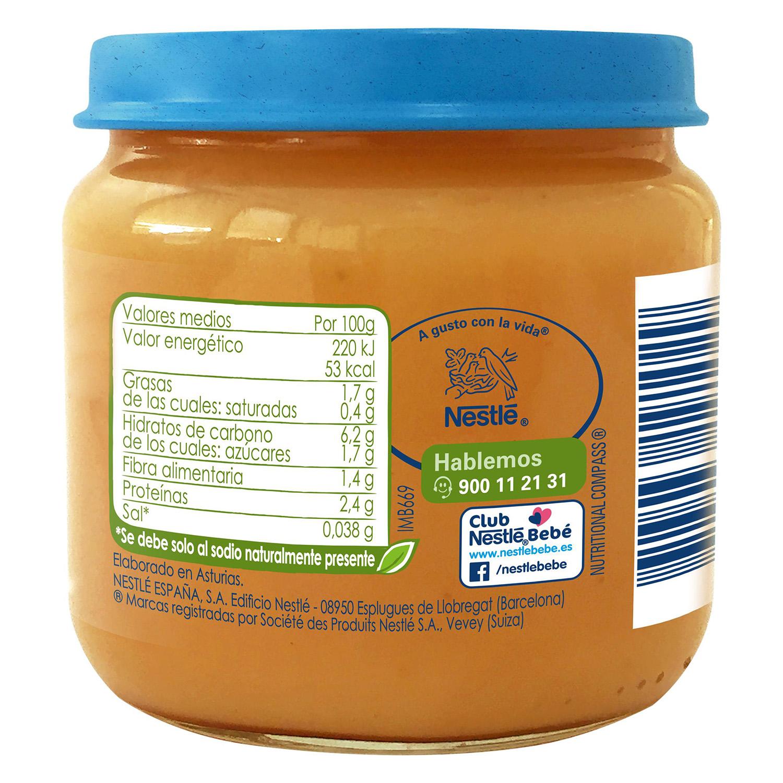 Tarrito de zanahoria y tomate con pavo desde 6 meses sin azúcar añadido ecológico Nestlé Naturnes sin gluten 200 g. - 2