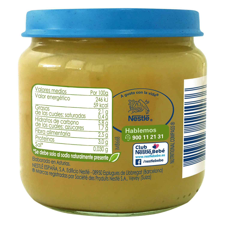 Tarrito de guisantes con patata y pollo desde 6 meses sin azúcar añadido ecológico Nestlé Naturnes sin gluten 200 g. - 2