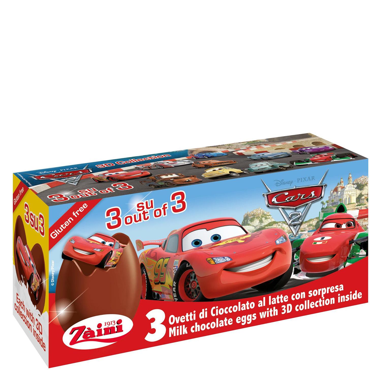 Huevo sorpresa de chocolate con leche Záini pack de 3 unidades de 20 g.