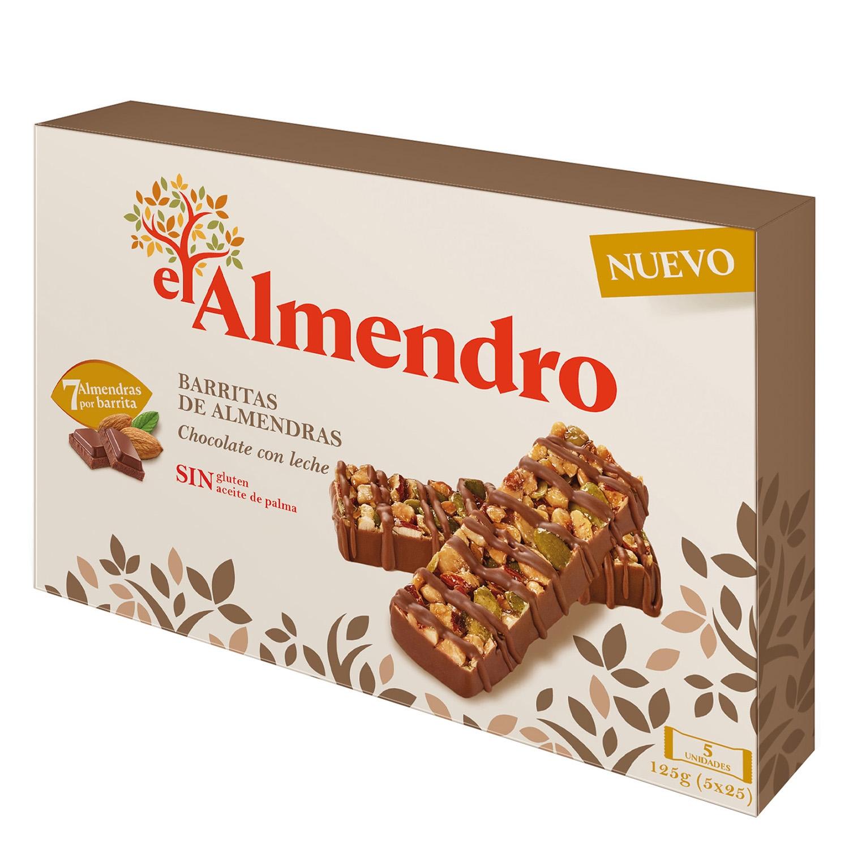 Barritas de almendras chocolate con leche