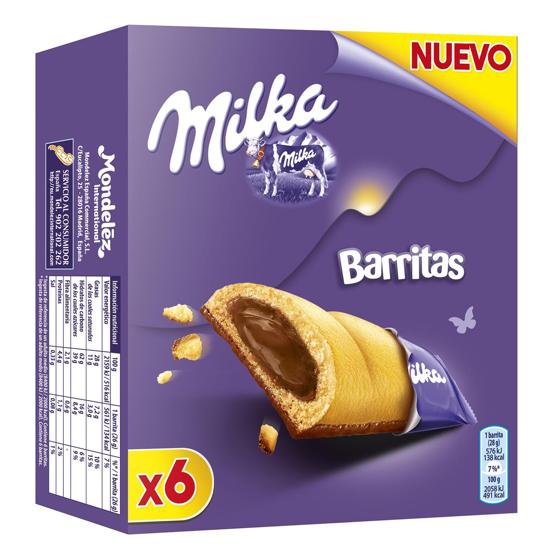 Barrita rellena de chocolate con leche