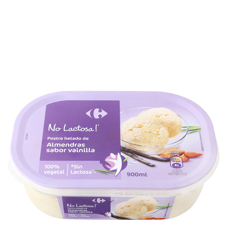 Helado de almendras y vainilla Carrefour No Lactosa 900 ml.