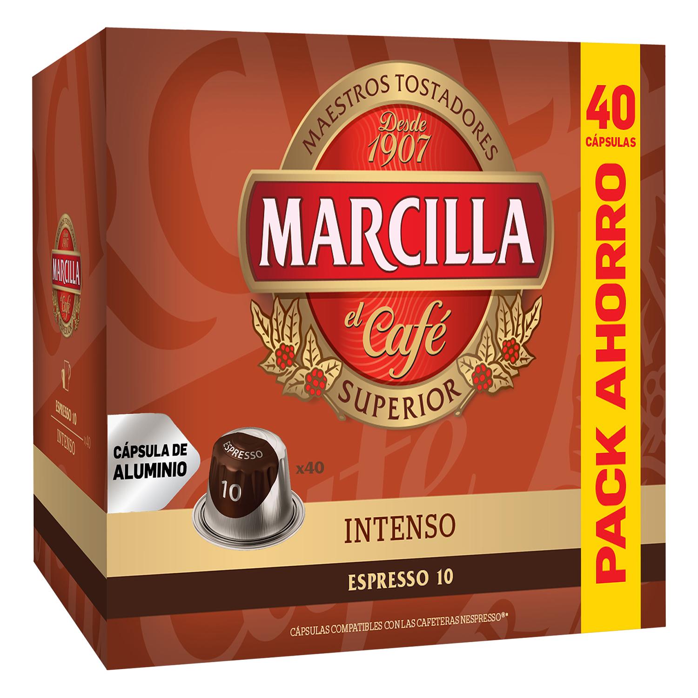 Café intenso en cápsulas compatible con Nespresso