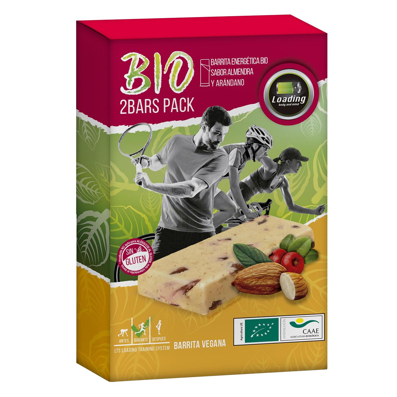 Barrita energética ecológica sabor almendra y arándano Loading pack de 2 barritas de 25 g.