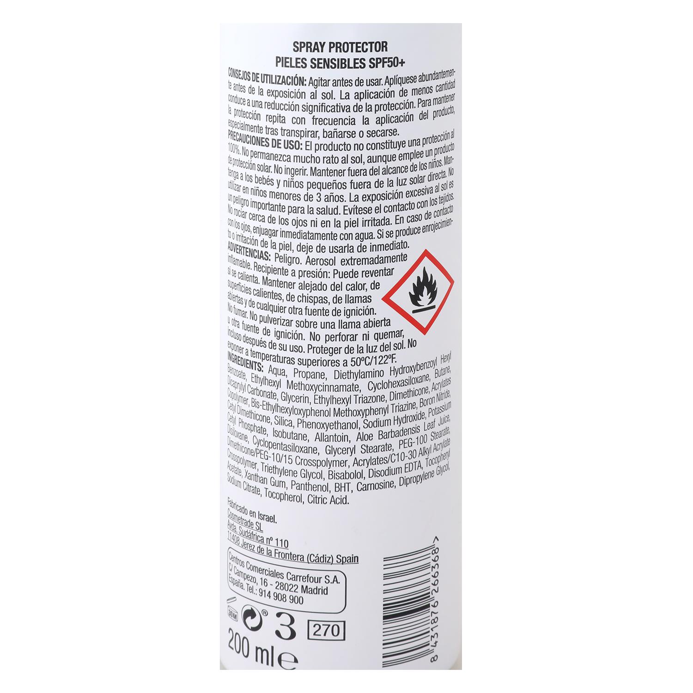 Spray solar senstive SPF 50+ Les Cosmétiques Sun Ultimate 200 ml. -