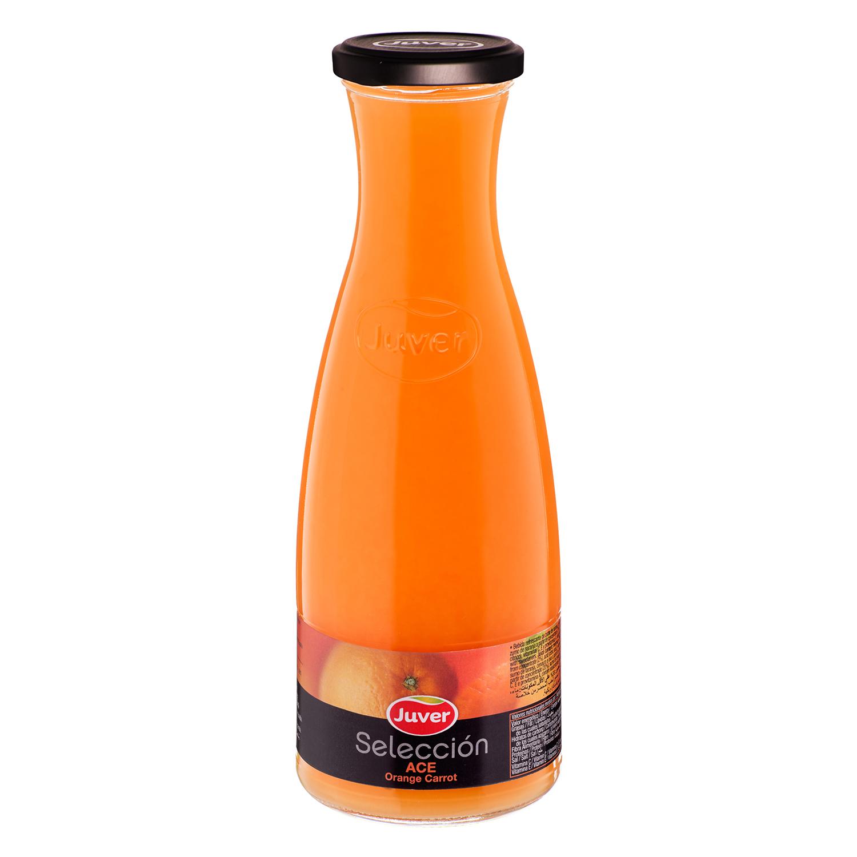 Zumo de naranja y zanahoria Juver Selección botella 85 cl.