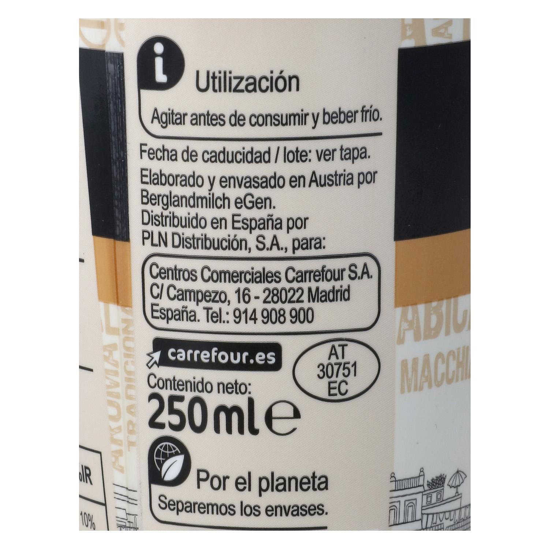 Café latte macchiatto Carrefour sin gluten 250 g. -