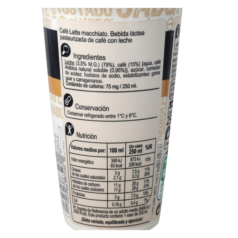 Café latte macchiatto Carrefour sin gluten 250 g. - 2