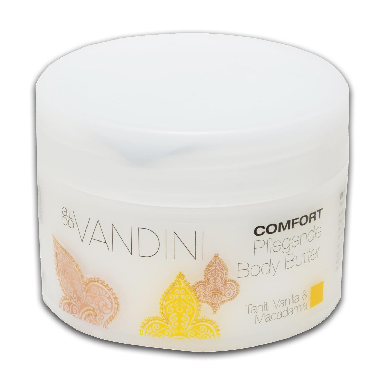 Crema corporal de vainilla de tahití y macadamia Aldo Vandini 200 ml.