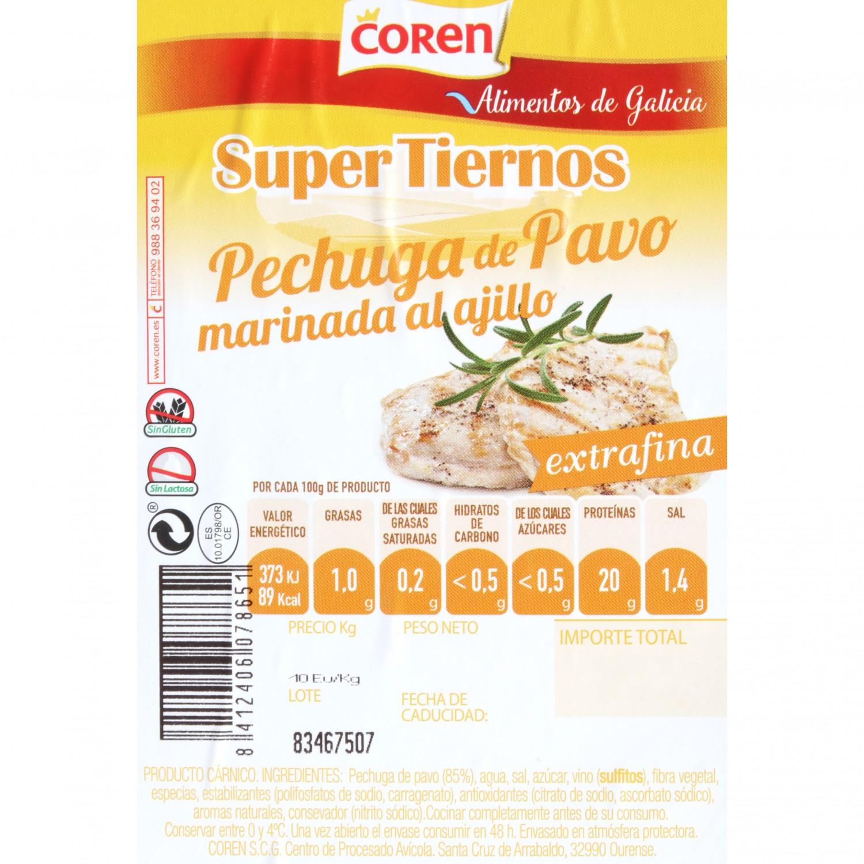 Pechuga de Pavo Marinada Fileteada 1 ud 300 g - 3