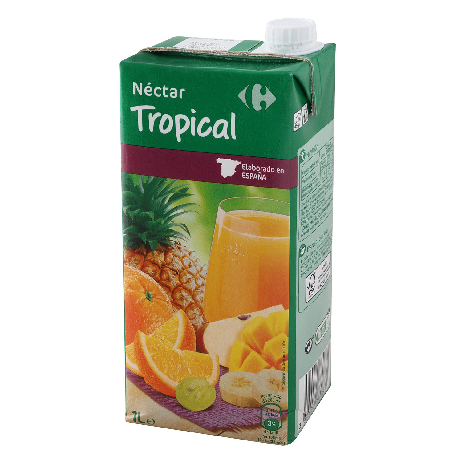 Néctar tropical Carrefour brik 1 l.