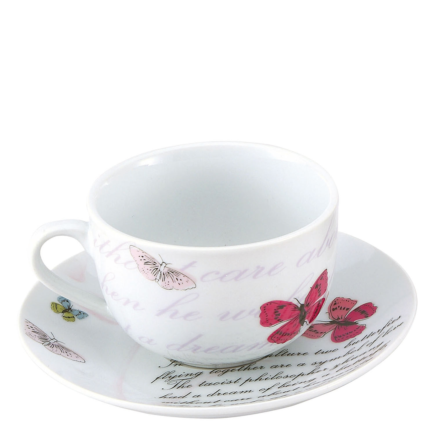 Set 2 servicios Té de Porcelana Brunchfield Butterfly 20cl Decorado