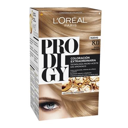 Tinte coloración extraordinaria nº 8.0 Duna Rubio Claro L'Oréal Prodigy 1 ud.