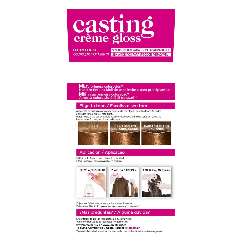 Tinte Créme Gloss nº 634 Castaño Miel L'Oréal Casting 1 ud. -