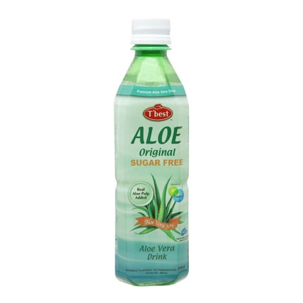 Agua de Aloe vera T'best premium sin azúcar 50 cl.