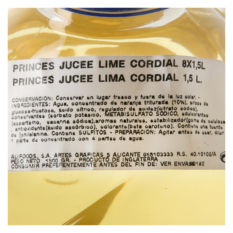Refresco de lima Jucee sin azúcar sin gas botella 1,5 l. - 2