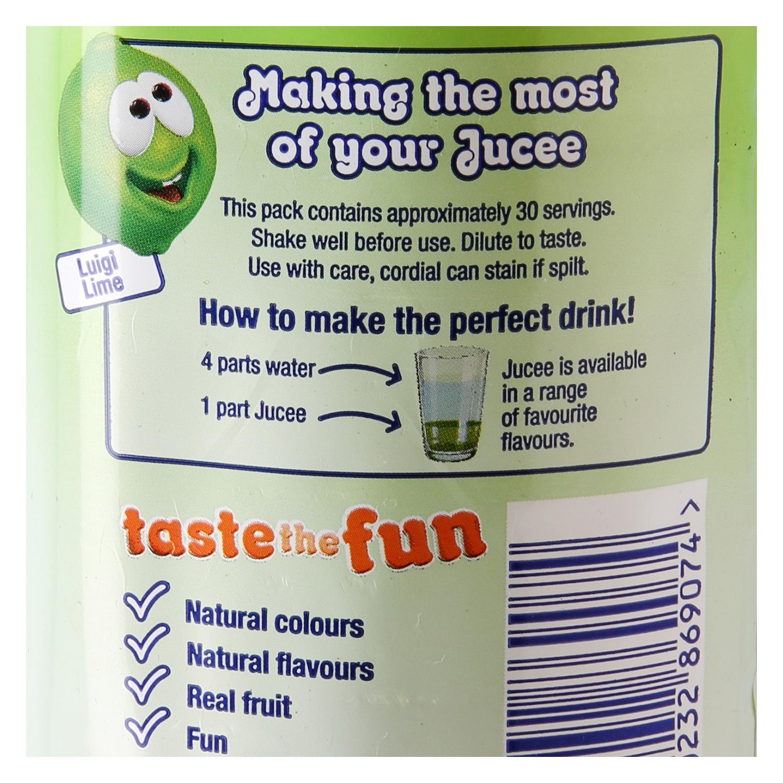 Refresco de lima Jucee sin azúcar sin gas botella 1,5 l. -