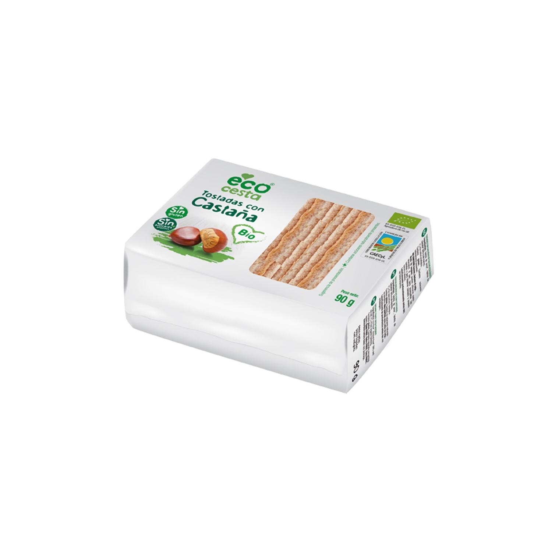 Tostadas con castaña de cultivo ecológicas Ecocesta 90 g.
