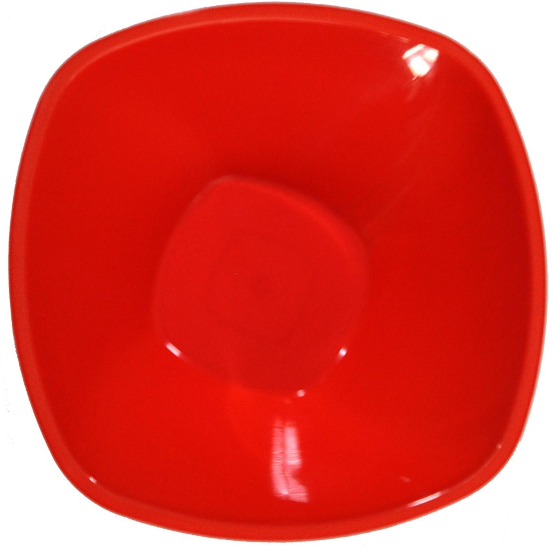 Ensaladeras  cuadradas Plastico  Rojo