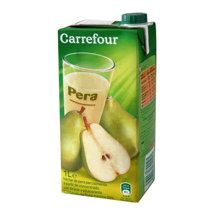Néctar de pera Carrefour brik 1 l.