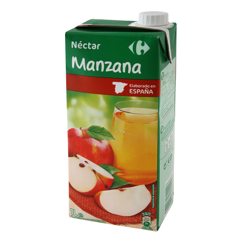 Néctar de manzana Carrefour brik 1 l.
