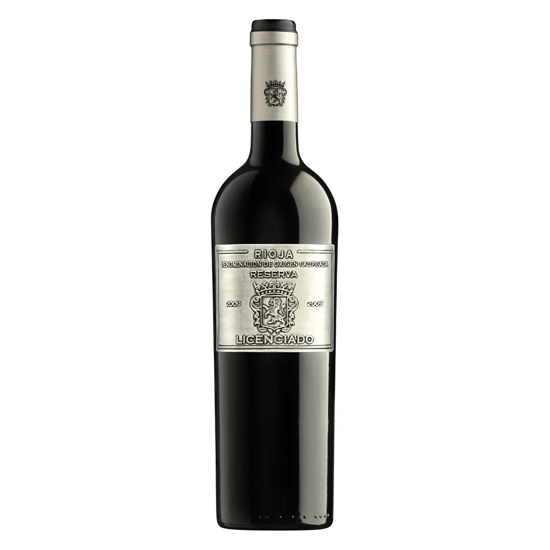 Vino D.O. Rioja tinto reserva Licenciado 75 cl.