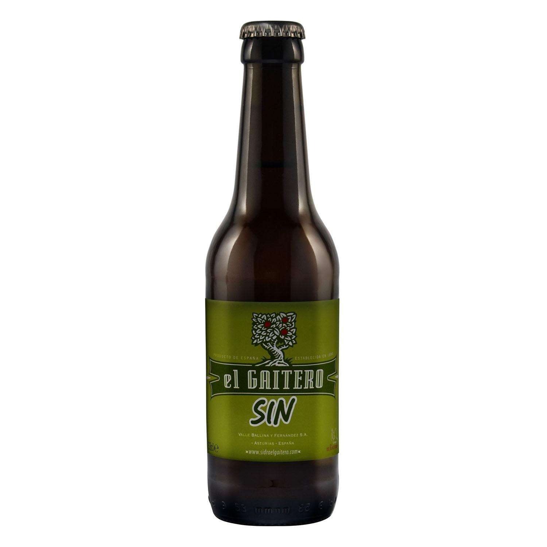 Sidra El Gaitero sin alcohol 33 cl.