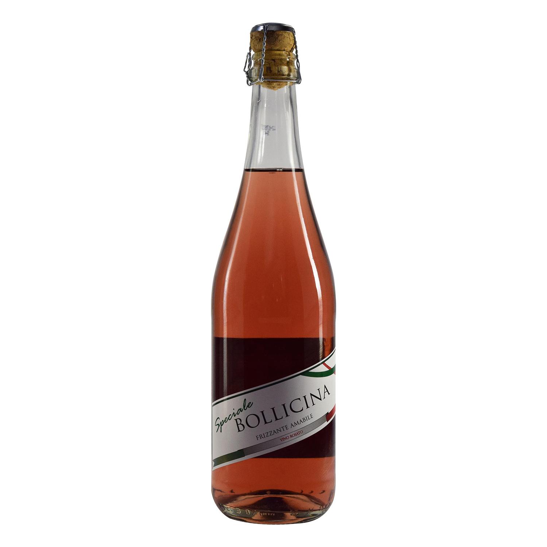 Vino frizzante amabile rosado Bollicina 75 cl.