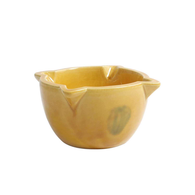 Mortero pequeño  de Cerámico   12,5cm. - Amarillo