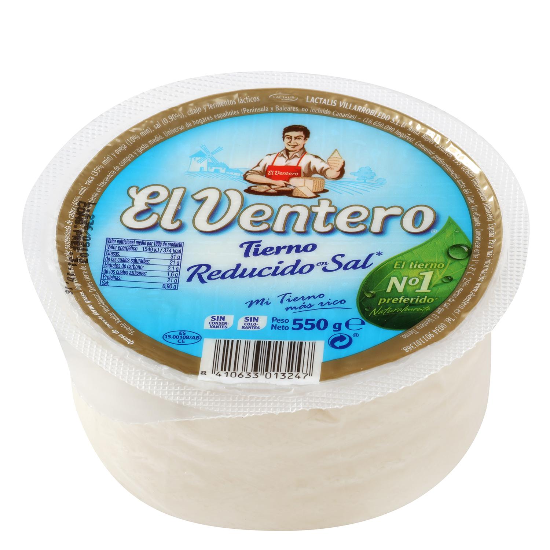Queso tierno bajo en sal -