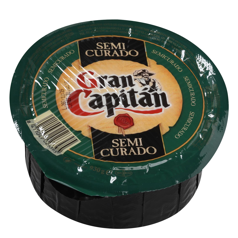 Queso semicurado mezcla Gran Capitán pieza 930 g -