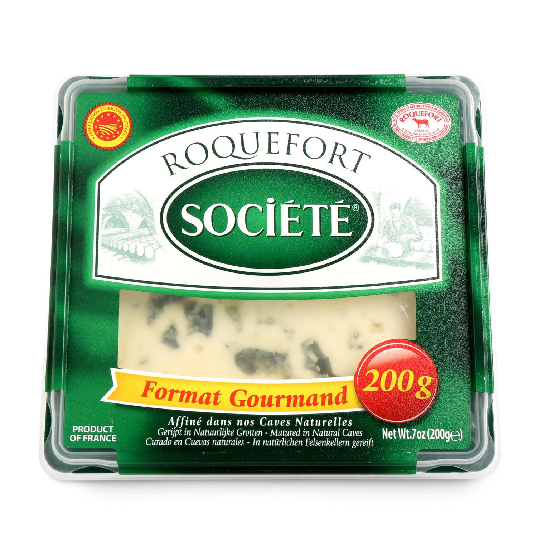 Queso azul roquefort Societé Lactalis cuña 200 g